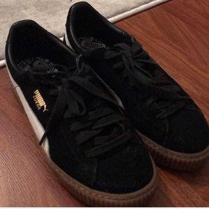 Puma Shoes - PUMA platform sneakers Black suede-8.5